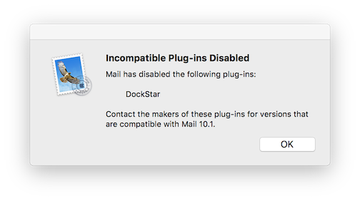 Incompatible Plug-in Disabled - DockStar